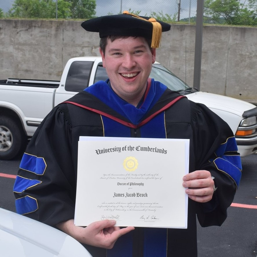 Jake after receiving his Ph.D.